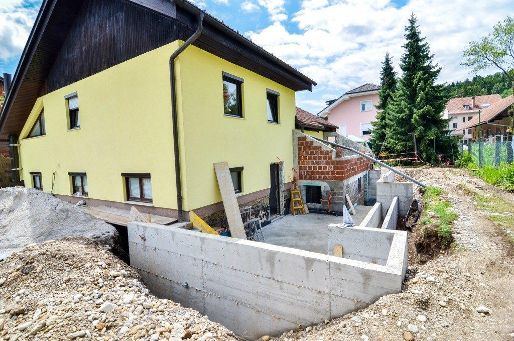 construction for home foundation