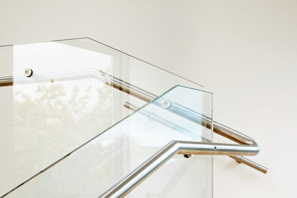 Elegant metal stairs and hand rails