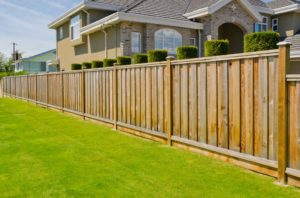 Brown residential wooden fence