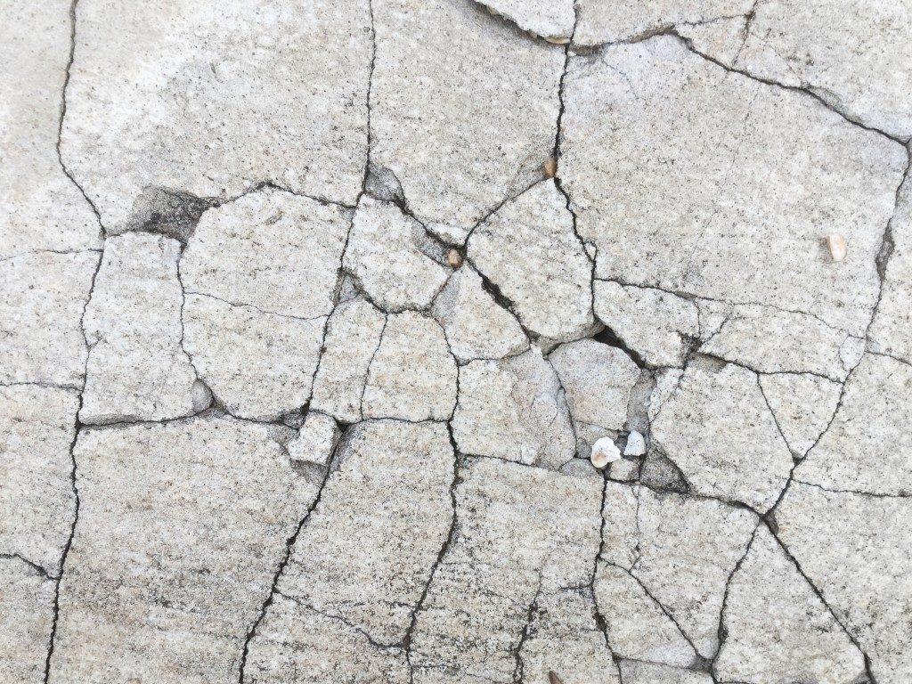 Cracks on cement floor