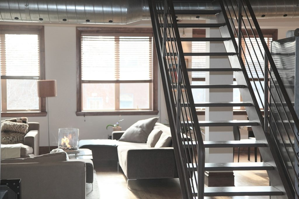 Loft with plenty of natural light