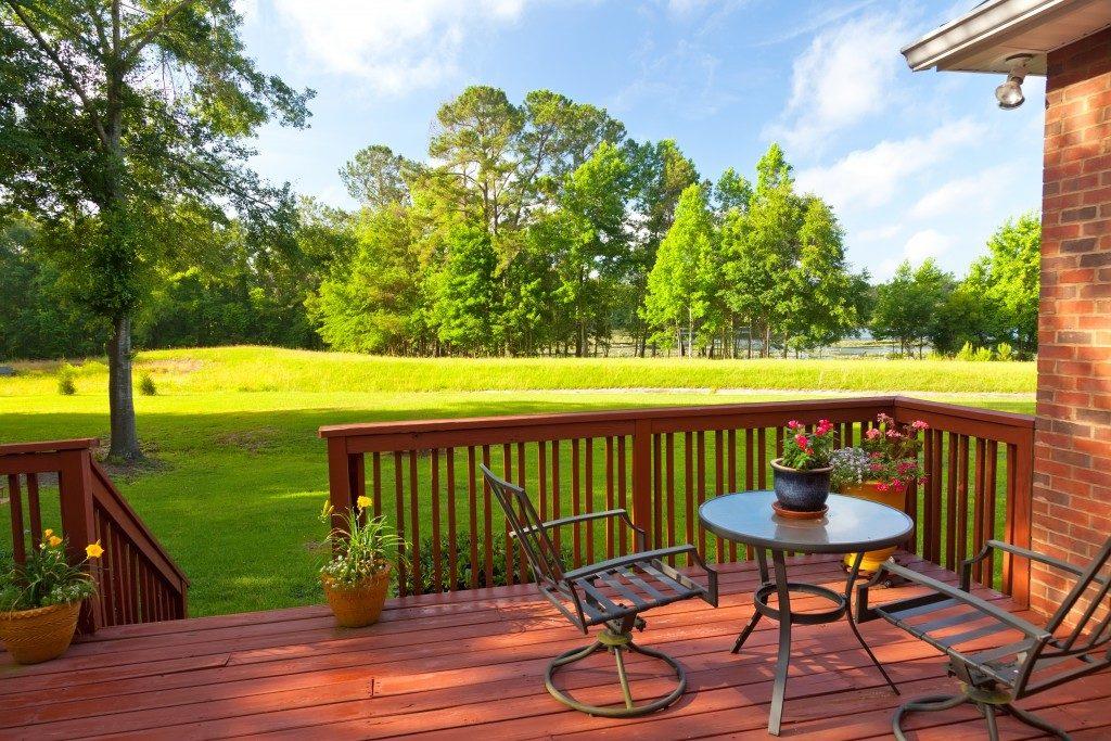 patio at the backyard